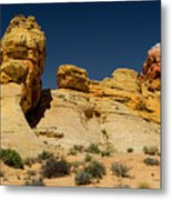 Sandstone Fortress Valley Of Fire Metal Print