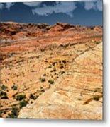 Sandstone Landscape Valley Of Fire Metal Print