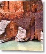 Sandstone Toes In The Virgin River Metal Print