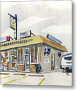 Sandwich Shop Metal Print