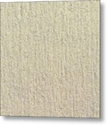 Sandy Beach Detail Lined Texture Background Metal Print