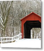Sandy Creek Covered Bridge Metal Print
