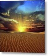Sandy Desert Metal Print