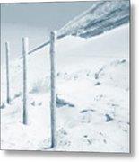 Sandy Dunes. Series Ethereal Blue Metal Print