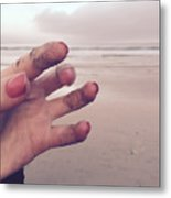Sandy Fingers Metal Print