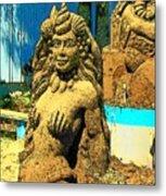 Sandy The Mermaid Metal Print