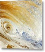Sandy Wave Crashing Metal Print