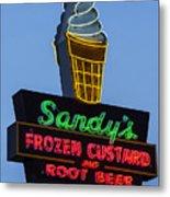 Sandys Frozen Custard - Austin Metal Print