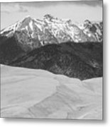 Sangre De Cristo Mountains And The Great Sand Dunes Bw V Metal Print by James BO  Insogna
