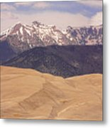 Sangre De Cristo Mountains And The Great Sand Dunes Metal Print