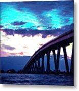 Sanibel Causeway Bridge Metal Print