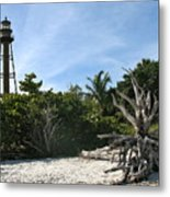 Sanibel Light And Driftwood Metal Print