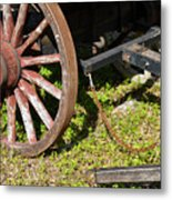 Sanibel Village Wagon Wheels Metal Print