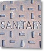 Sanitation Drain  Metal Print