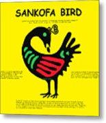 Sankofa Bird Of Knowledge Metal Print