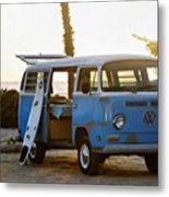 VW and Surfboard Metal Print