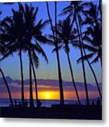 Sans Souci Sunset Waikiki Metal Print