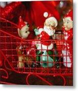 Santa And His Elves Metal Print