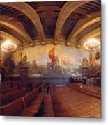 Santa Barbara Court House Mural Room Photograph Metal Print by Brian Lockett