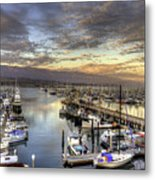 Santa Barbara Harbor Sunset Metal Print