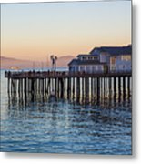 Santa Barbara Wharf At Sunset Metal Print