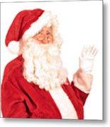 Santa Claus Waving Hand Metal Print