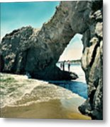 Santa Cruz Beach Arch Metal Print