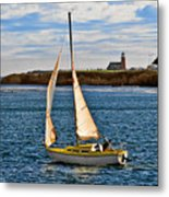 Santa Cruz Mark Abbott Memorial Lighthouse Ca  Metal Print by Christine Till