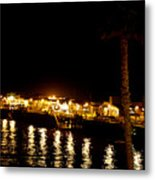 Santa Cruz Pier At Night Metal Print
