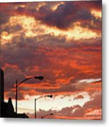 Santa Fe At Dusk New Mexico Metal Print
