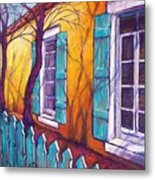 Santa Fe Shutters Metal Print by Candy Mayer