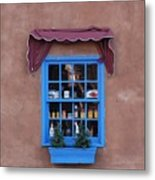 Santa Fe Window Metal Print