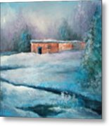 Santa Fe Winter Metal Print