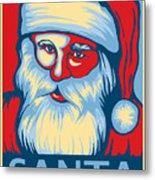 Santa Hope Metal Print