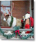 Santa Is Watching You Metal Print