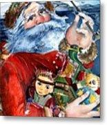 Santa Metal Print