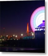 Santa Monica - Ferris Wheel Metal Print