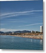 Santa Monica From Pier Metal Print