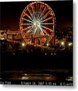 Santa Monica Pier October 18 2007  Metal Print