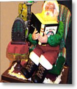 Santa Reads A Story To The Children Metal Print