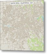 Santa Rosa California Us City Street Map Metal Print