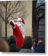Santa Says Hello Metal Print