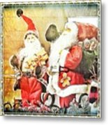 Santa Scene 2 Metal Print