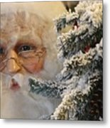 Santa Sees You Metal Print