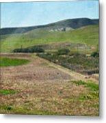 Santa Ynez Mountains Green Hills Ranch Metal Print