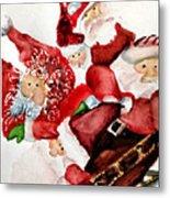 Santas Metal Print by Dana Patterson
