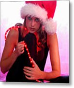 Santas Helper Metal Print