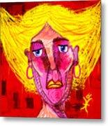 Santia Sour Face 1060 Metal Print