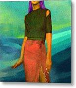 Santia Walking On Water Metal Print