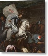 Santiago At The Battle Of Clavijo Metal Print